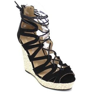 Marilyn Moda WENDY Women's Strappy Wedge Sandals