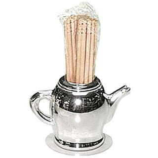 Elegance Silver-Plate Teapot Toothpick Holder