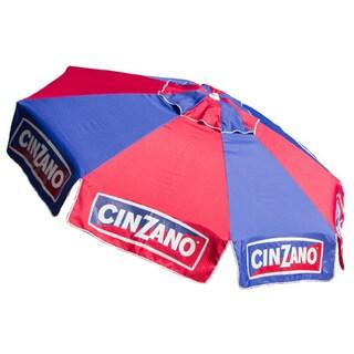 8ft Cinzano Deluxe Beach and Patio Umbrella with Storage Bag