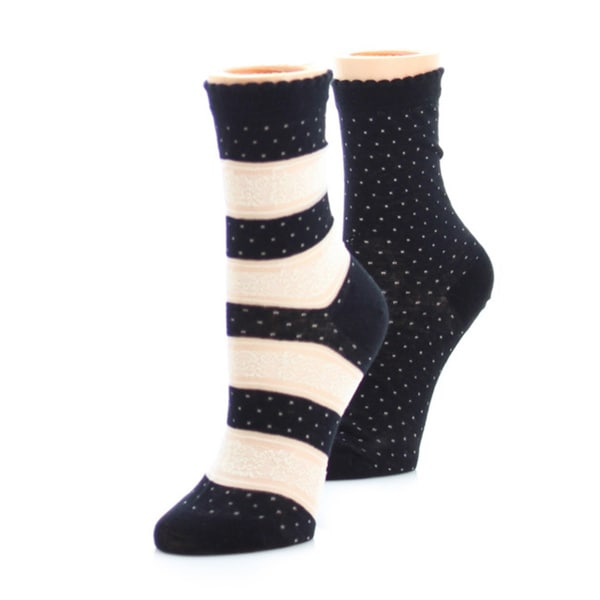 Memoi Women's Floral Femme Anklet (Pack of 2)