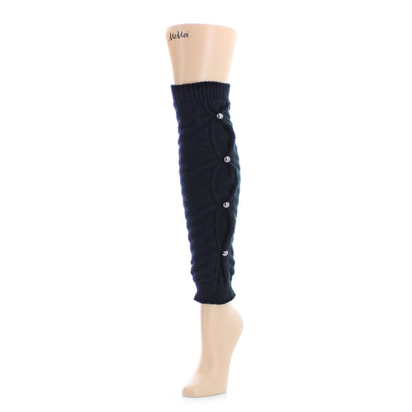Memoi Women's Button Bind Legwarmer
