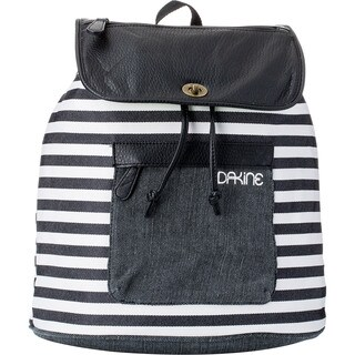 Dakine Sophia Black Stripes 20L 14-inch Flapover Backpack