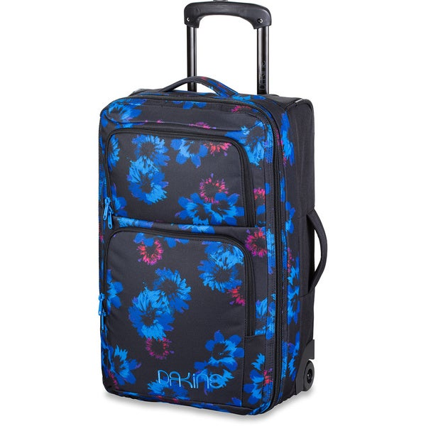 Dakine Blue Flowers 21-inch 36L Rolling Carry On Upright Suitcase