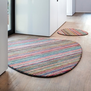 Papilio : Hand Loomed Cabrillo Wool Rug (5'3 Shape)