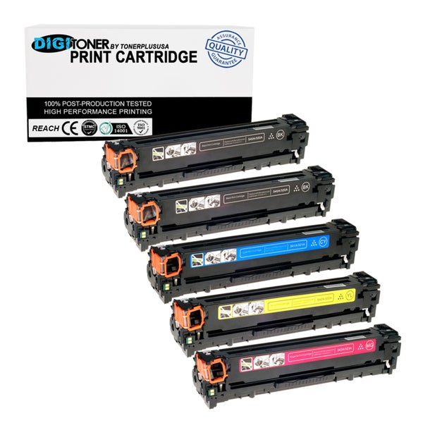 5PK Set Compatible HP 128A (CE320A CE321A CE322A CE323A) KKCYM Multi Combo Color Toner Cartridge for Printers CM1415fnw CP1525nw