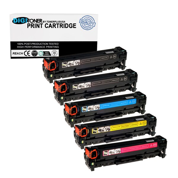 5PK Set Compatible HP 304A KKCYM (CC530A CC531A CC532A CC533A) KKCYM Multi Combo Color Toner Cartridge for CM1312 CP1215 CP1518