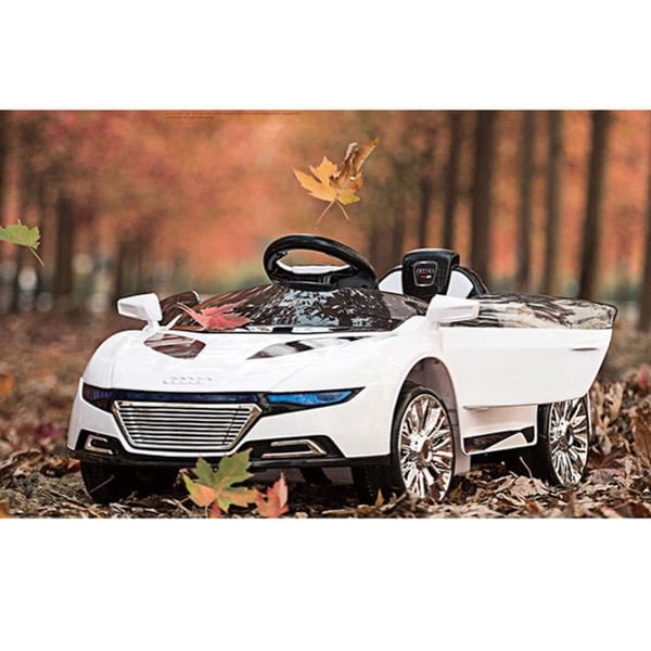 AudiStyle 6V White Ride on Car with Remote Control
