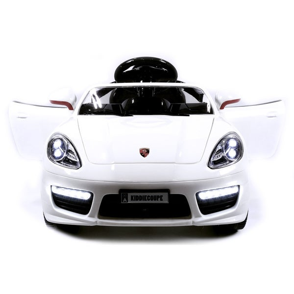 Porsche Boxster Style 12V Kids White Ride-On Car