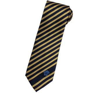 Versace 100-percent Italian Silk Gold Stripes Neck Tie
