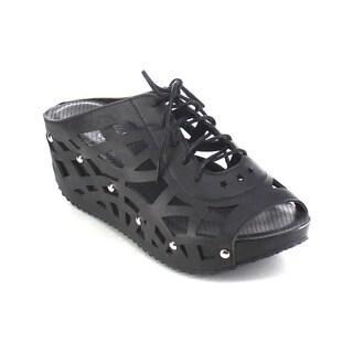 Beston AA98 Women's Slip On Stud Platform Sandals