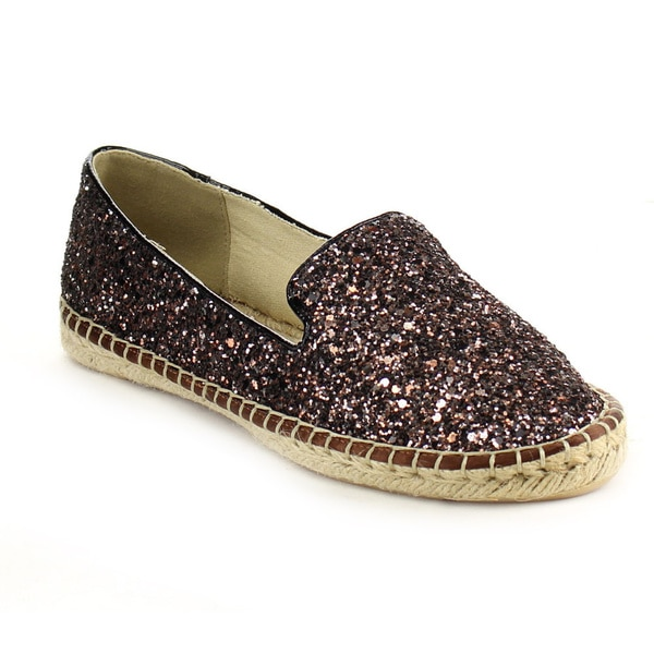 Beston AB11 Women's Glitter Slip On Espadrilles