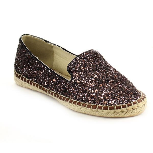 Beston AB11 Women's Glitter Slip On Espadrilles