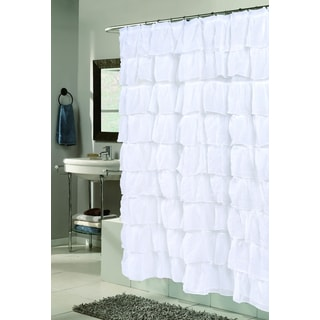 """Carmen"" Polyester Ruffled Shower Curtain"