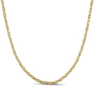 Miadora 10k Yellow Gold Italian Mariner Link Chain Necklace