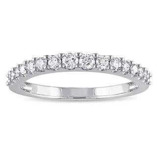 Miadora Signature Collection 14k White Gold 3/8ct TDW Diamond Anniversary Ring (G-H, I1-I2)