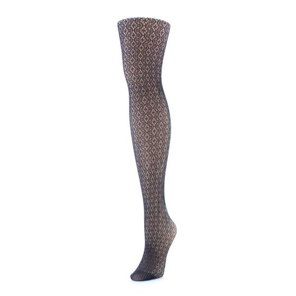 Memoi Women's Crochet Lurex Net Tights