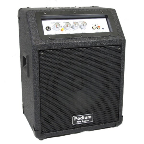 Podium Pro PPM8 Battery Powered Guitar Amp Speaker with MP3 Player