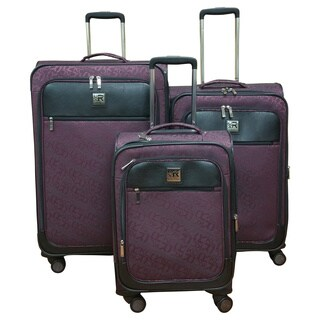 Kenneth Cole Reaction Plum 3-piece Polyester Spinner Luggage Set