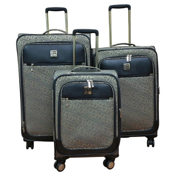 Kenneth Cole Reaction Tan 3-piece Polyester Spinner Luggage Set