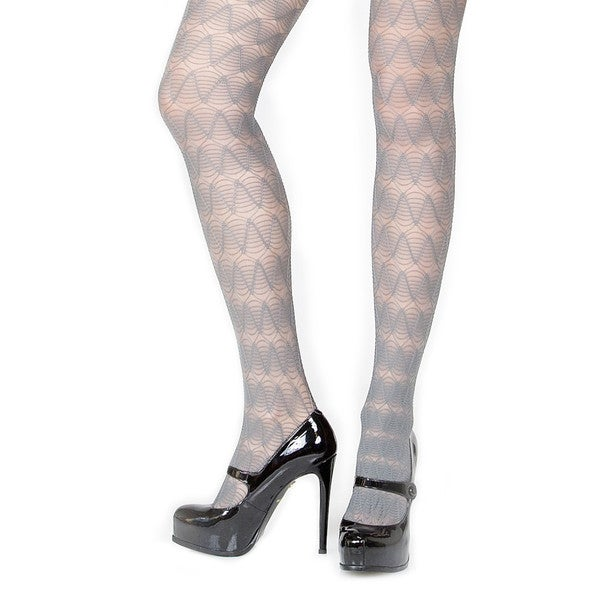 Memoi Women's Graphic Wave Tights