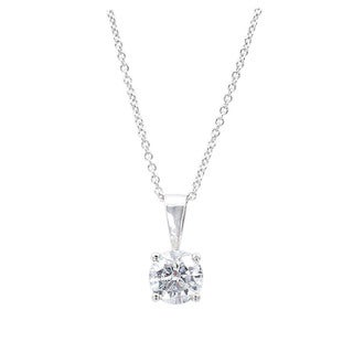 EFFY 18k White Gold 1/2ct TDW Diamond Pendant (D-E, VS1-VS2)