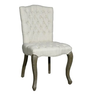 Adeco Tufted European-style Side Dining Chairs (Set of 2)