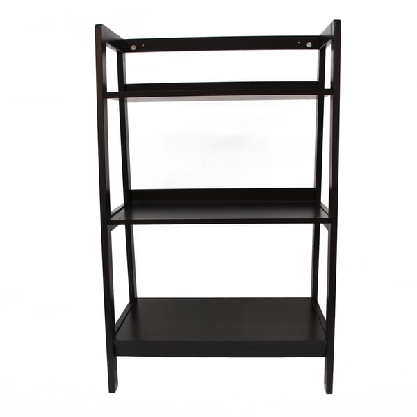 Adeco Espresso 3-shelf Wide Shelving Unit