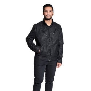 Excelled Men's Slim Fit Coated Cotton Canvas Jacket