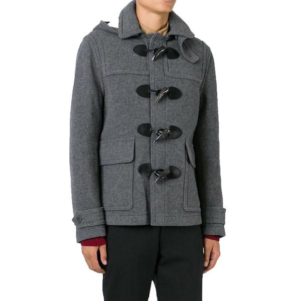 Burberry Men's Burwood Grey Wool Duffle Coat