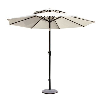 Adeco 9-foot Patio Market Aluminum Umbrella