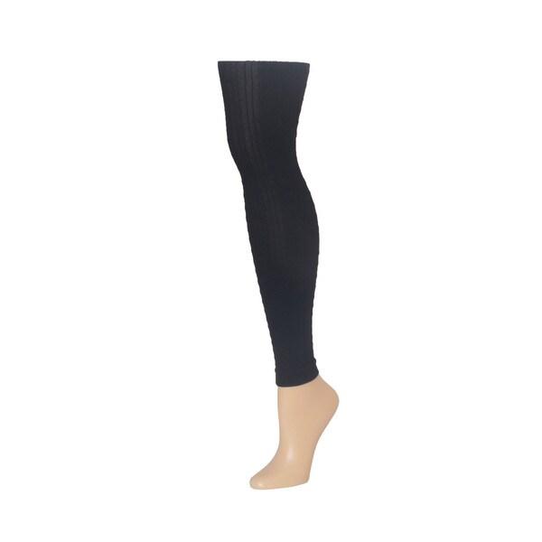 Memoi Women's Footless Textured Tights