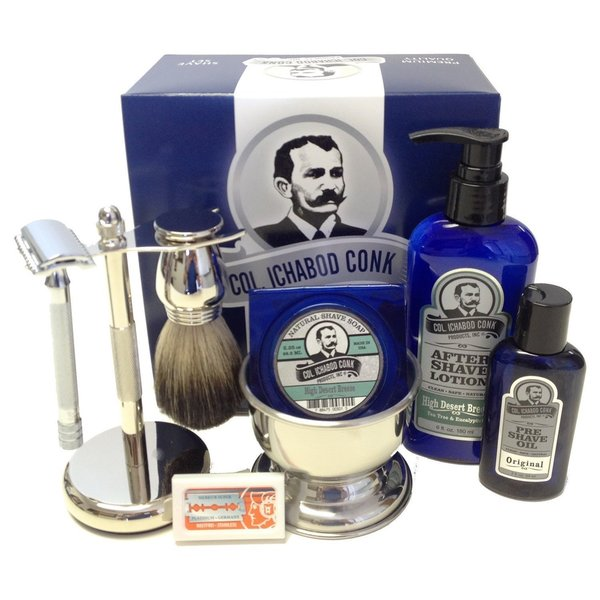 Colonel Conk Complete 8-piece Shave Kit (As Is Item)