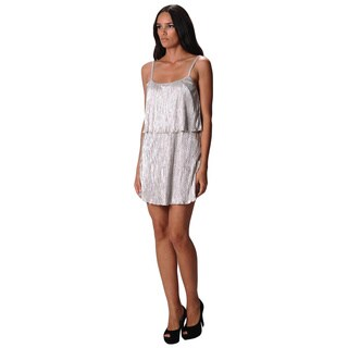 Sara Boo Women's Strappy Silver Mini Party Dress