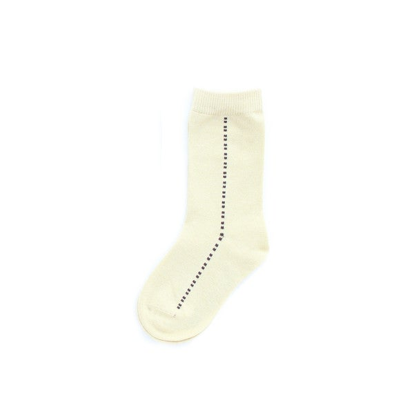 Memoi Boys' Center Dots Dress Socks