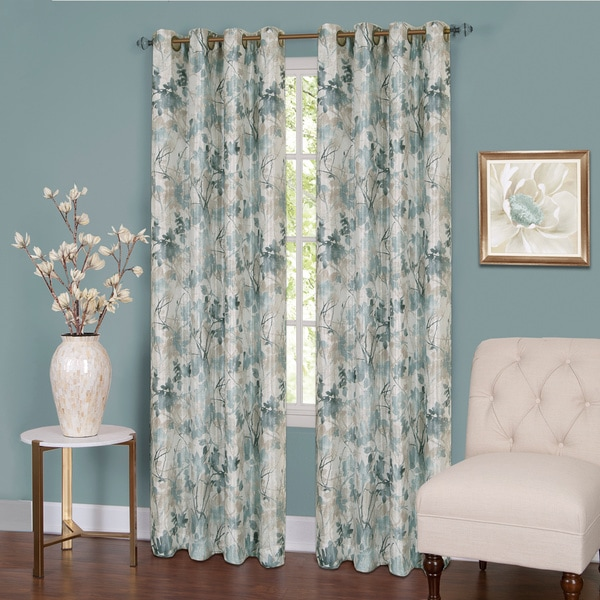 Tranquil Lined Grommet Curtain Panel