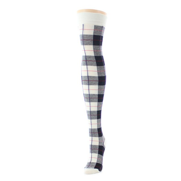 Memoi Women's Tartan Plaid Over The Knee