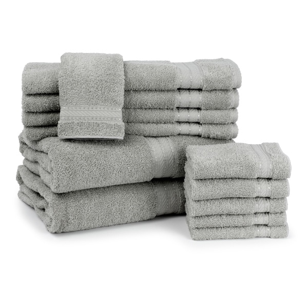 Caldwell at Home Certified Giza 12-piece Towel Set - 2 colors available