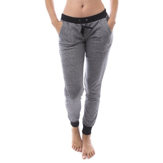 Soho Apparel Women's Heather Athletic Track Sweatpants