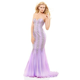 Terani Couture Strapless Two-Tone Prom Dress