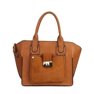 Rimen and Co. Satin Faux Leather Tote Handbag