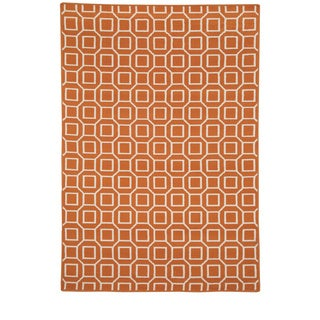 Rizzy Home Glendale Collection Power-loomed Geometric Area Rug (6'7 x 9'6)