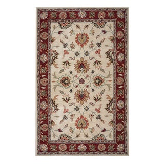 Rizzy Home Valintino Collection Beige/ Rust Area Rug (5' x 8')