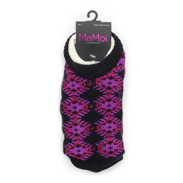 Memoi Women's Diamond Arrow Cozy Lined Booties