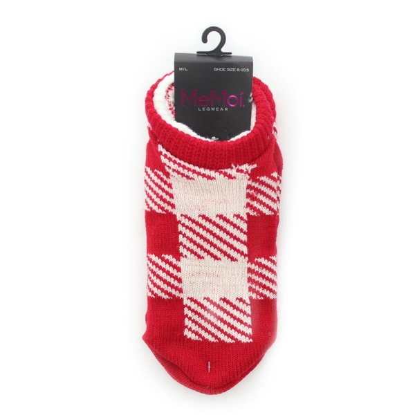 Memoi Women's Checker Shade Cozy Lined Booties