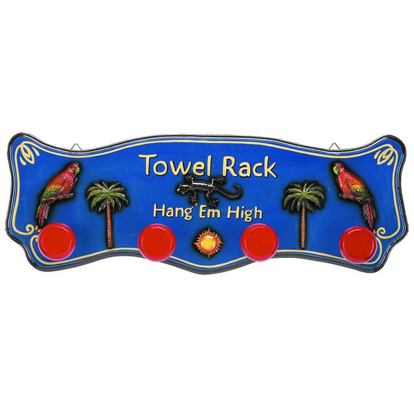Hang Em High Hanging Outdoor Towel Rack