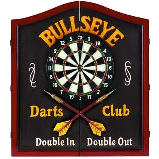 RAM Game Room 'Bullseye' Solid Wood Wall Mounted Dart Board Cabinet