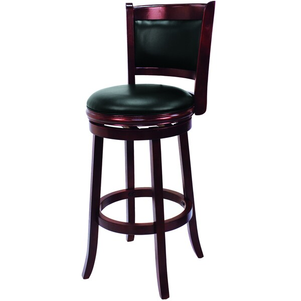 Black/ English Tudor Backed Swivel Barstool