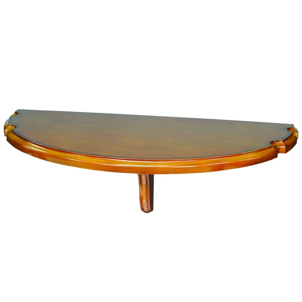 Wall Mounted Chestnut Brown Pub Table with Cue Rests