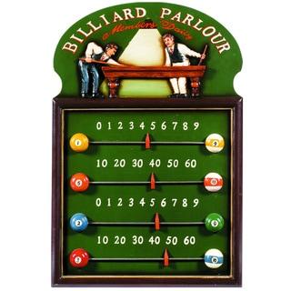 Billiard Parlour Sliding Tab Scoreboard