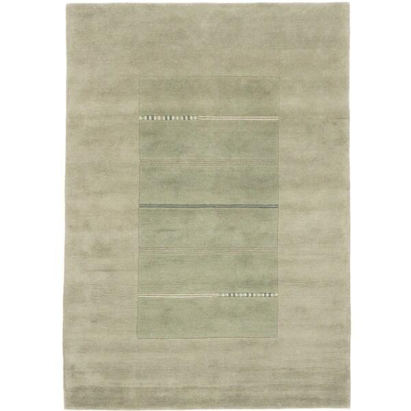 ecarpetgallery Kathmandu Green Wool Rug (5'8 x 8)